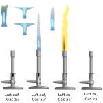 Bunsen burners selection vector clip art
