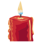 Burning Candle Clip Art