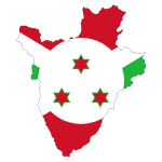 Burundi Flag Map With Stroke