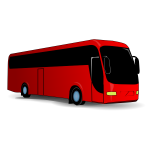 Red city bus