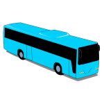 Blue bus drawing