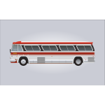 GM PD-4106 bus vector image