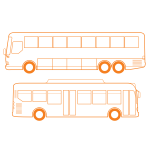 City bus vector clip art