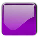 Gloss purple square decorative button vector clip art