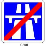 Vector graphics of end of motorway section roadsign