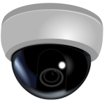 CCTV dome camera vector illustration
