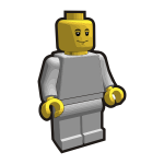Lego minifigure vector clip art