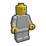 Vector image of mini figure