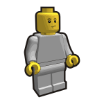 Image of children's building blocks hero guy