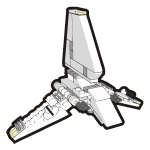 Vector image of plastic playing shuttle