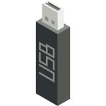 USB stick vector icon