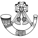 Light Infantry badge vector image