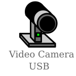 USB video camera sign vector illustration