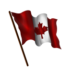 Waving Canadian flag vector image