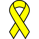 Yellow cancer ribbon
