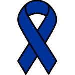 Blue ribbon symbol