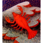 Red crab drawing