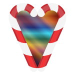 Candy Cane Heart 3