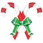 Candy canes and ribbon