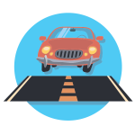 Car And Road Icon