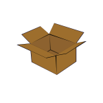 Cardboard box vector clip art