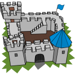 Cartoon castle vector clip art