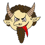 Devil with beard