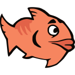 Orange cartoon fish