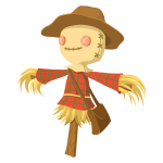 Cartoon scarecrow