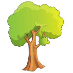 Cartoon Tree Isolated