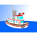 Animated Cartoon TugBoat