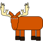 Cartoon image of a moose
