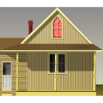 American Gothic house vector illustration