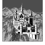 Neuschwanstein Castle vector clip art