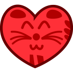 Vector illustration of cat's heart