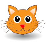 Funny cat head vector illustration