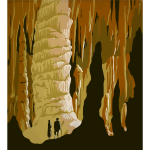 Cavern with people