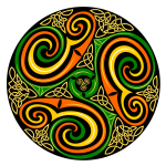 Vector image of Celtic whirl design