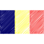 Chad flag linear 2016082549