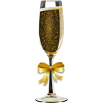 Vector clip art of glass of champagne