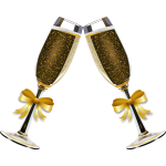 Vector illustration of glasses of champagne