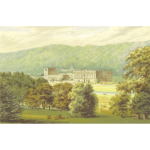 Chatsworth House vector drawing