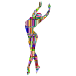 Checkered Chromatic Dancing Woman