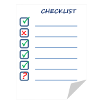 Checklist on paper sheet