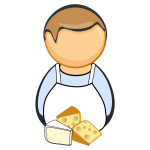 Cheese maker with cheese