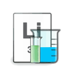 Vector drawing of chemical experiment result