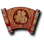 Red Chinese scroll