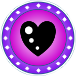 Purple heart badge vector clip art