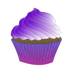 Chocolate Purple Cupcake