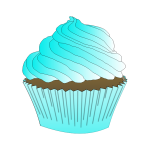 Chocolate Teal Cupcake